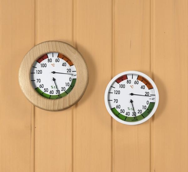 Klimamesser für Sauna/Vital/infrarot weiß 120 mm