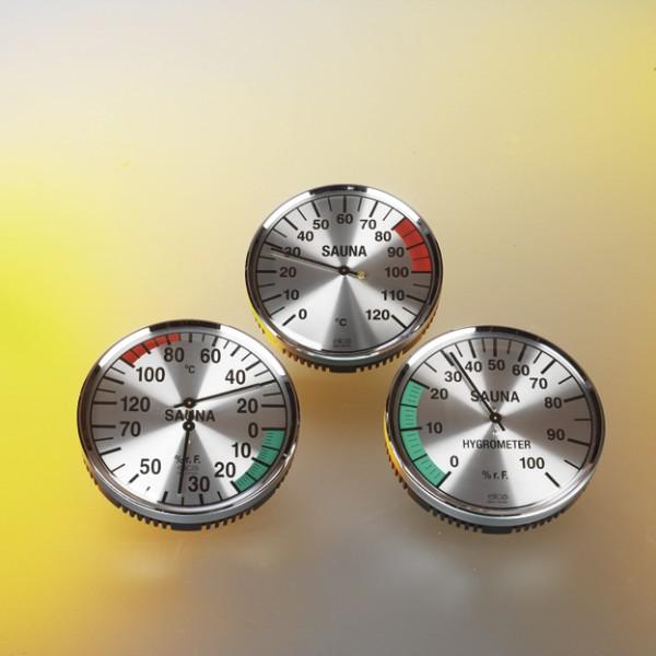 Hygrometer silberfarben 135 mm