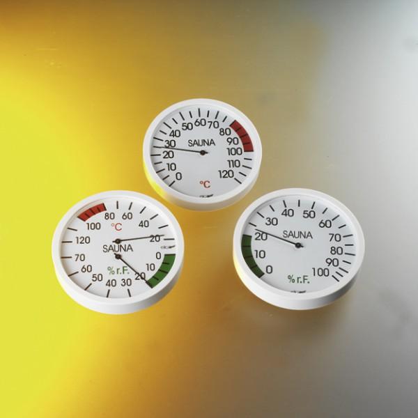 Klimamesser weiß 120 mm für Sauna