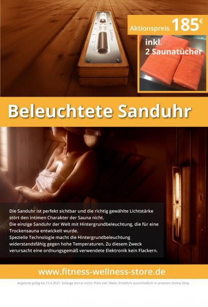 Hinterleuchtete Design Sanduhr / Die einzige Sanduhr der Welt mit Hintergrundbeleuchtung