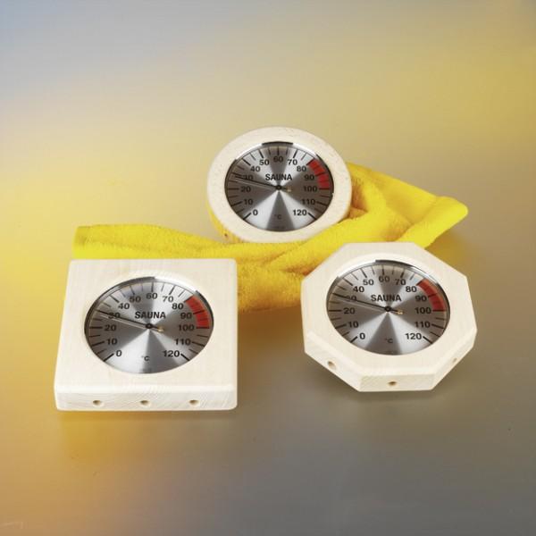 Thermometer im Holzrahmen 170 mm