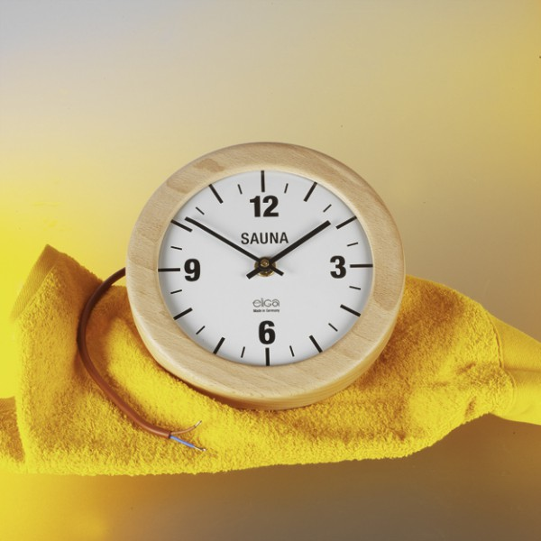 Sauna-Uhr elektrisch, 210 mm rund