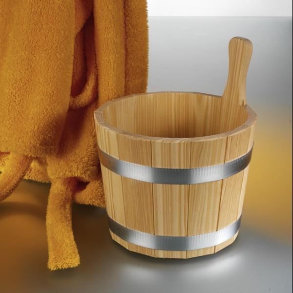 Aufgusseimer 5 ltr. aus Lärchenholz mit Kunststoffeinsatz